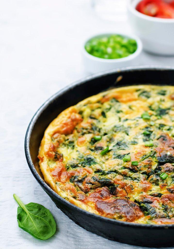 Omelete de verduras