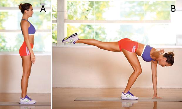Modelo fazendo exercício stiff modificado