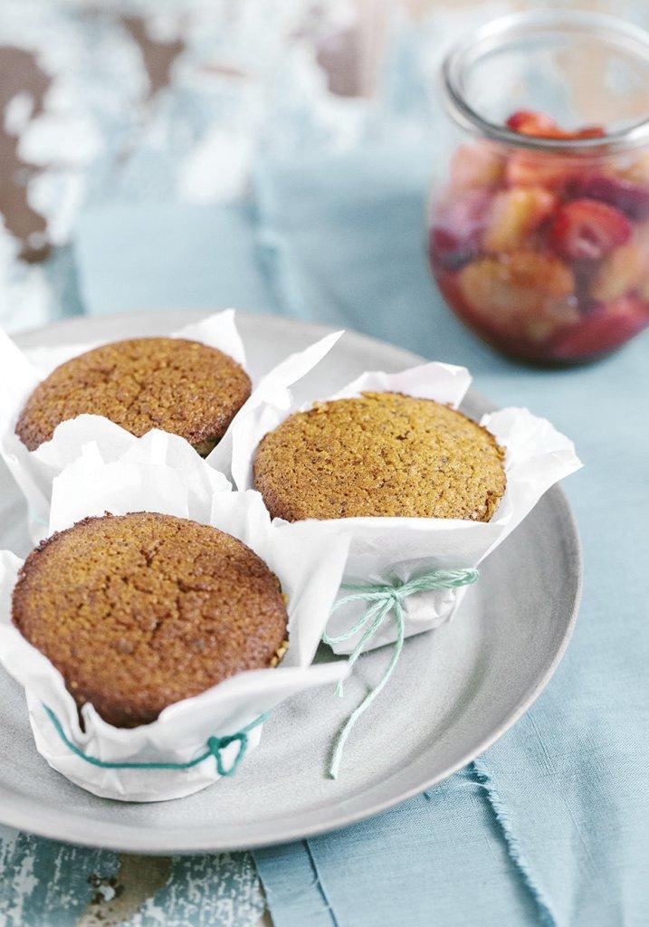 Muffin de morango leve e saudável