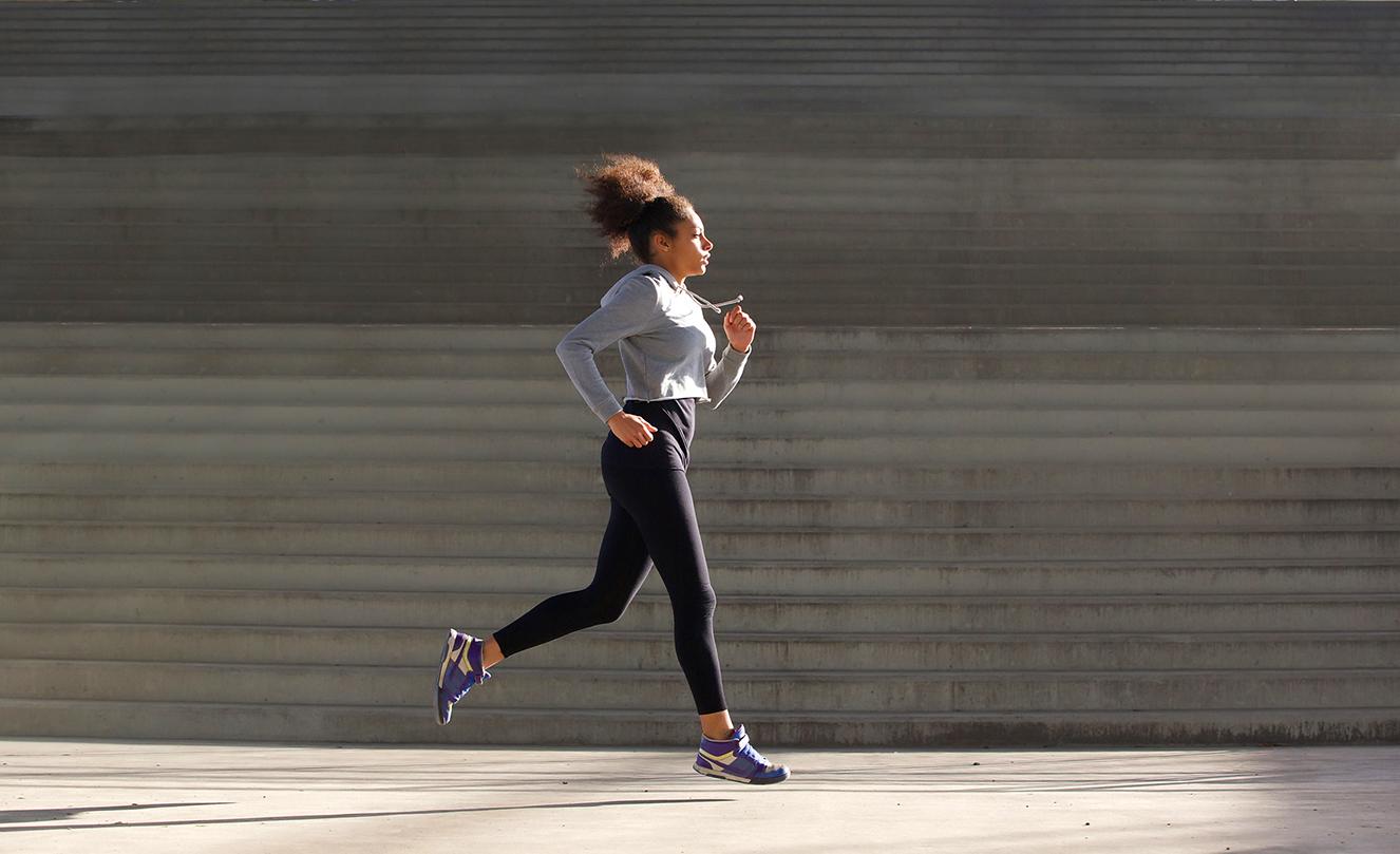 Correr alivia o stress.