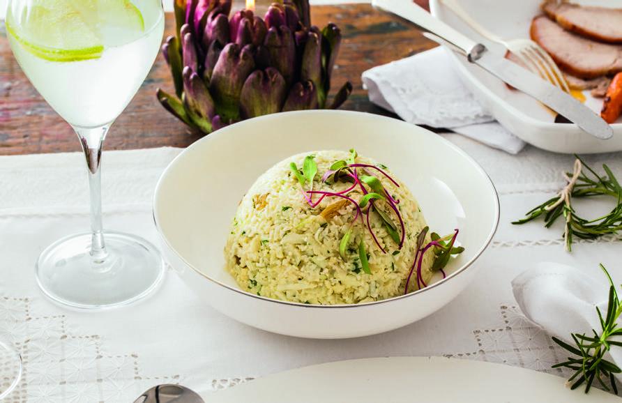 Receita de arroz de couve-flor