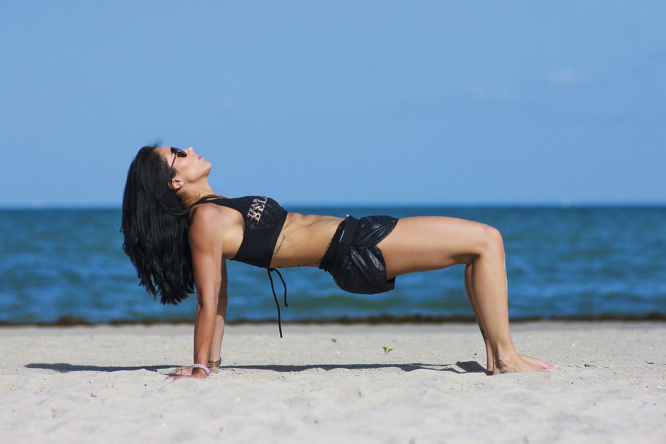 Ponte com pernas flexionadas