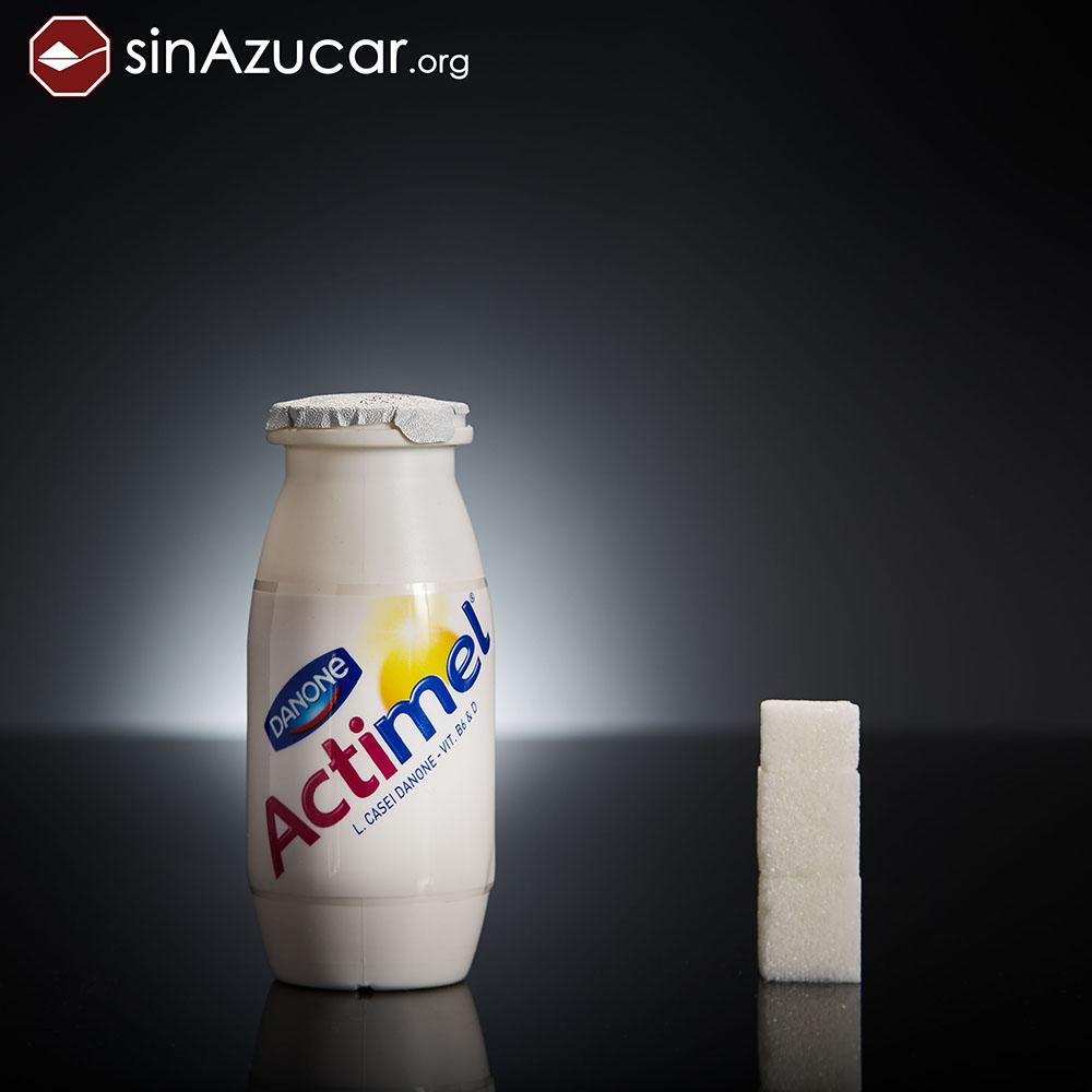 Quantidade de açúcar no iogurte Actimel