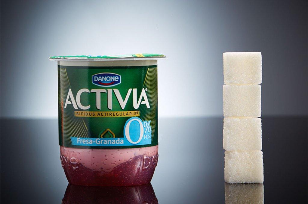 Quantidade de açúcar no danone Activia
