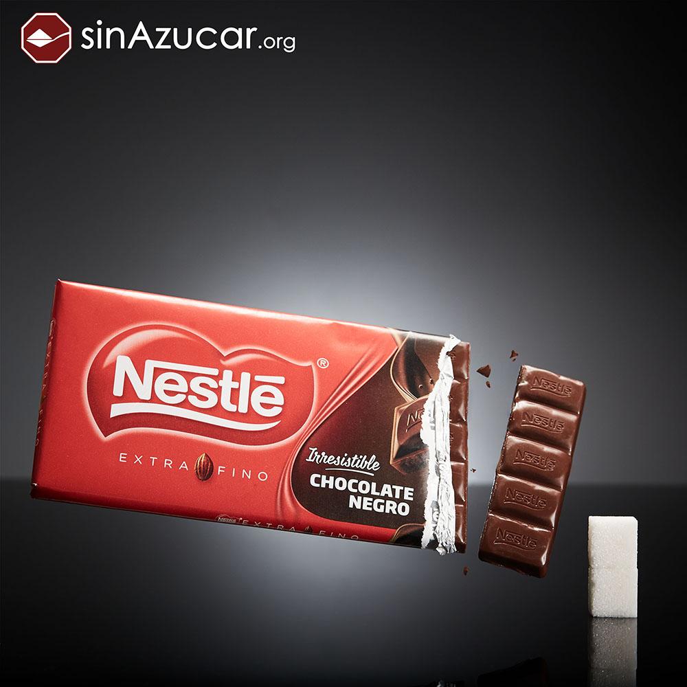 Quantidade de açúcar no chocolate preto
