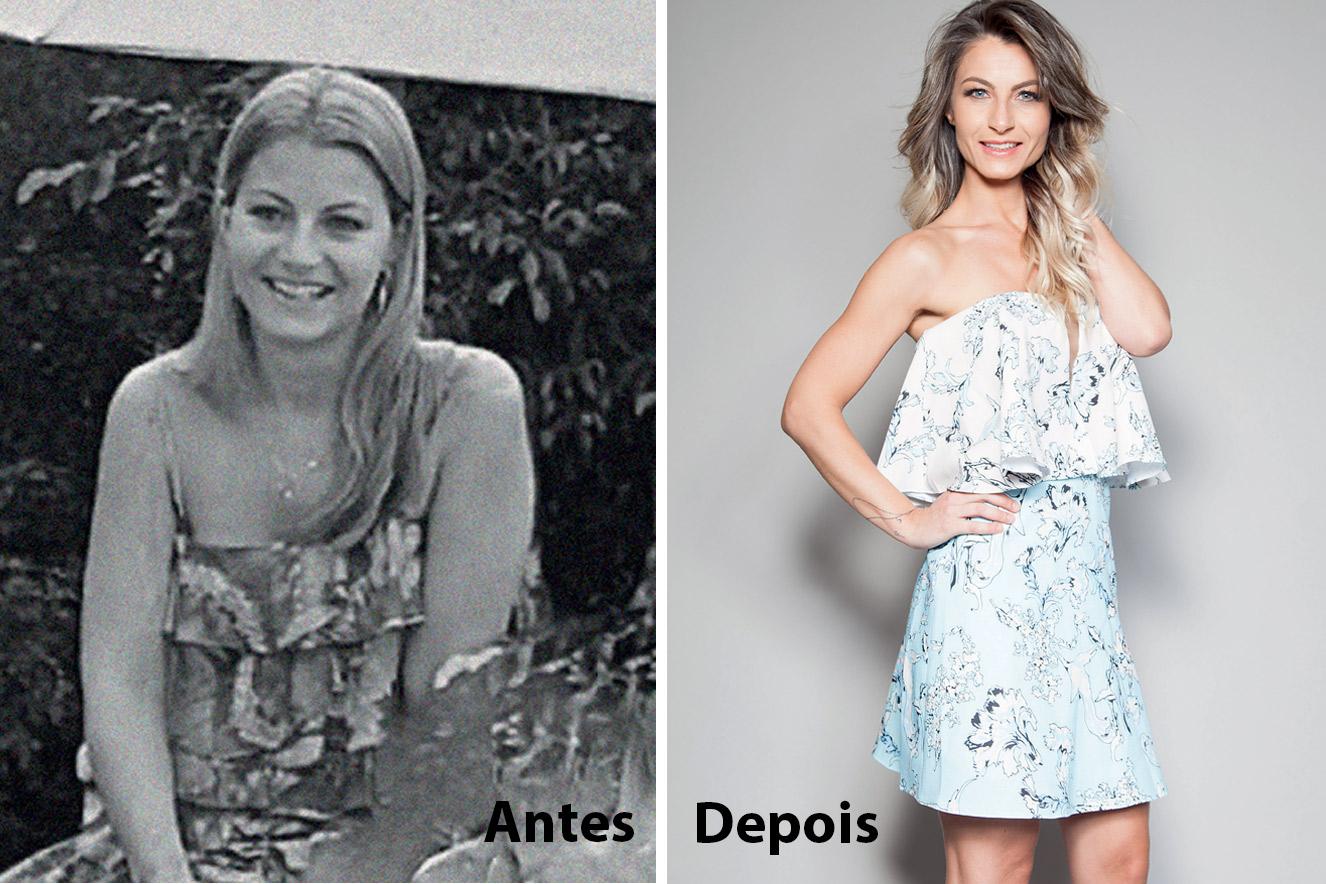 Antes e depois de Dani Cozzarin