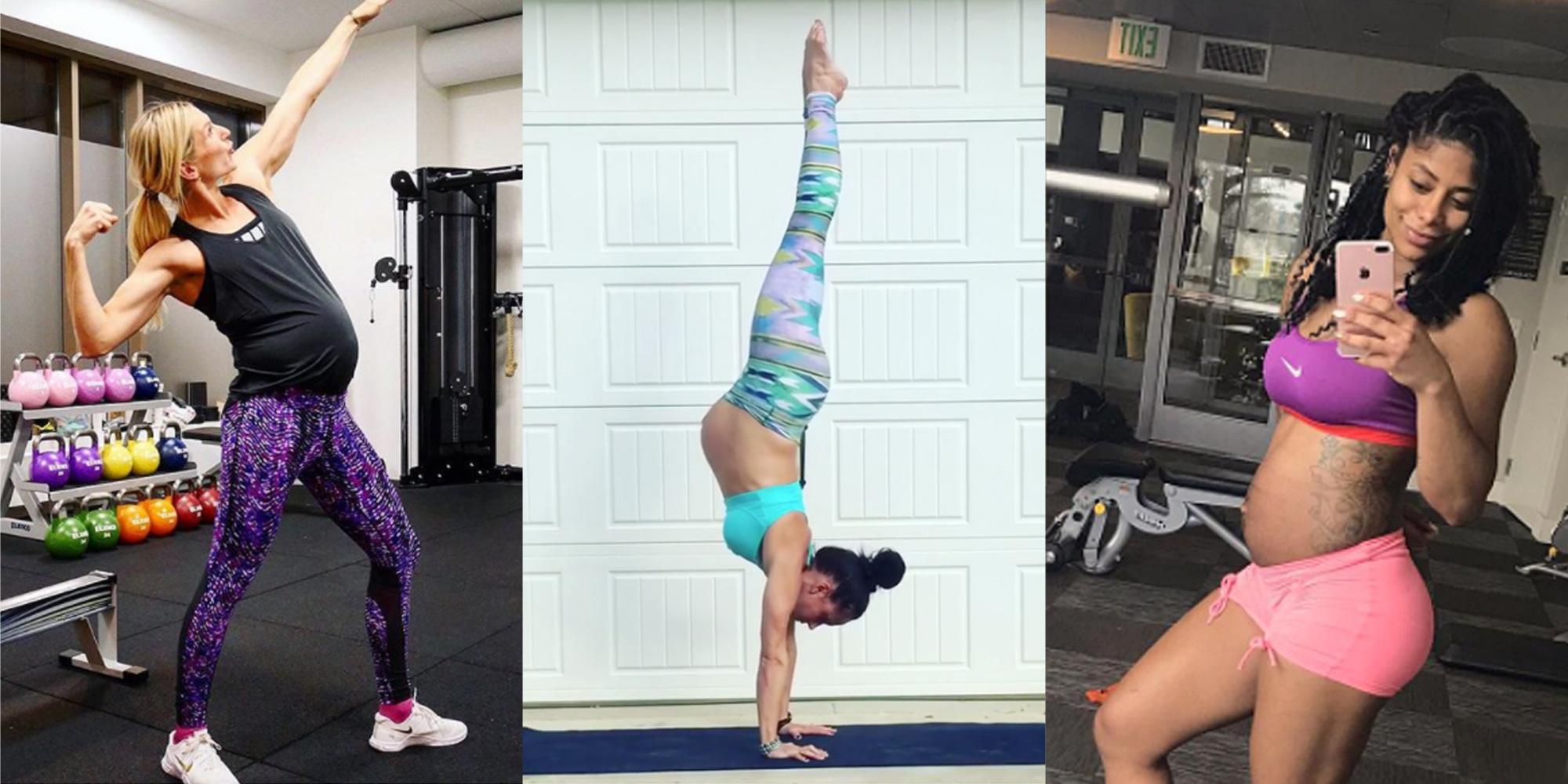 Grávidas provam que podem fazer exercícios