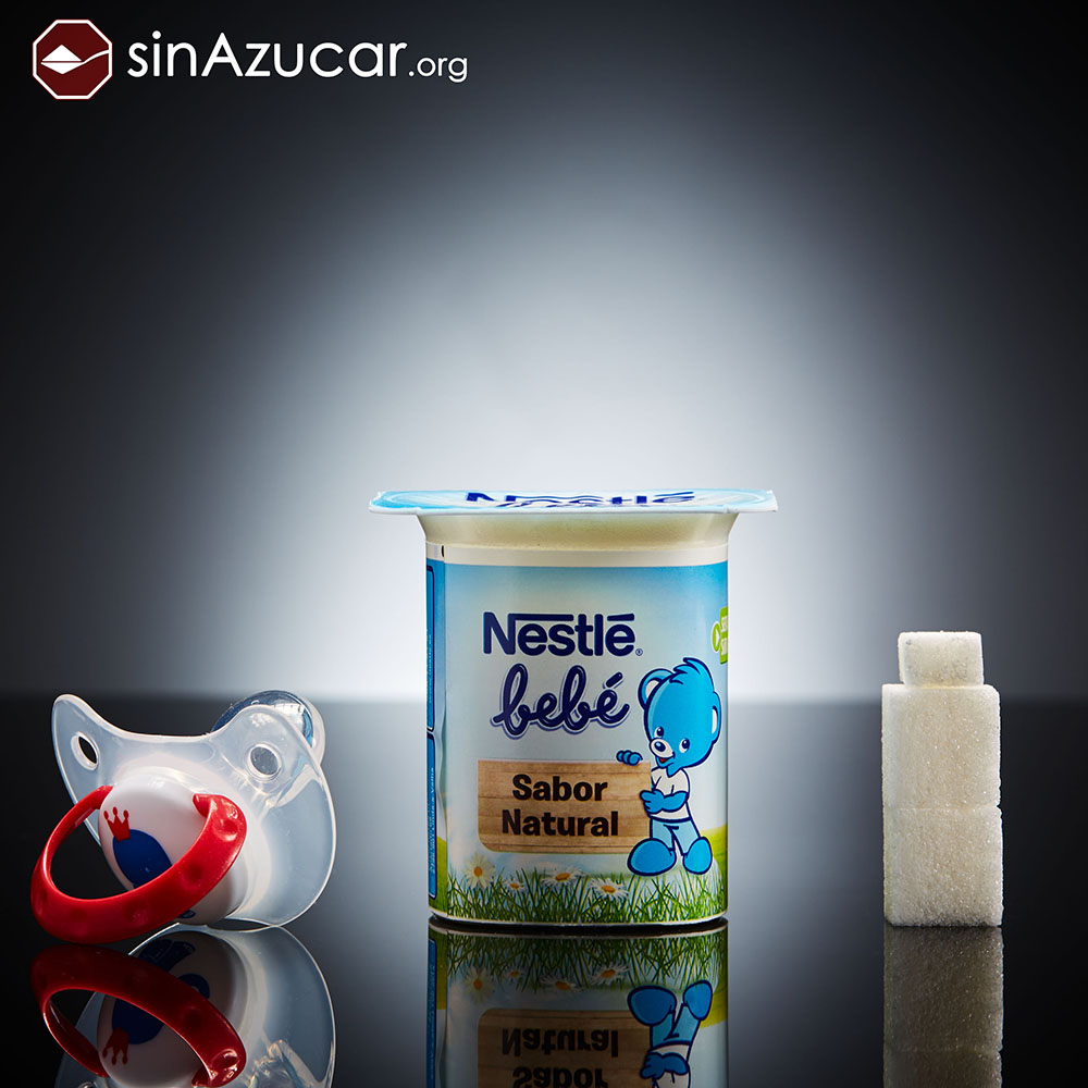 Quantidade de açúcar no iogurte infantil