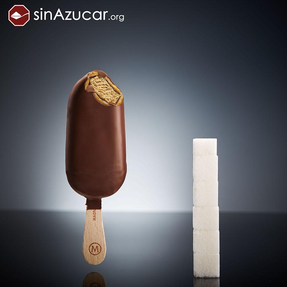 Quantidade de açúcar no sorvete Magnum