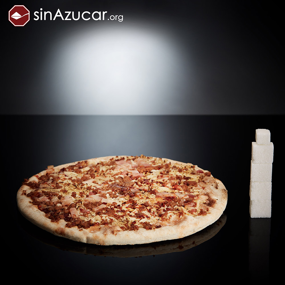 Quantidade de açúcar na pizza