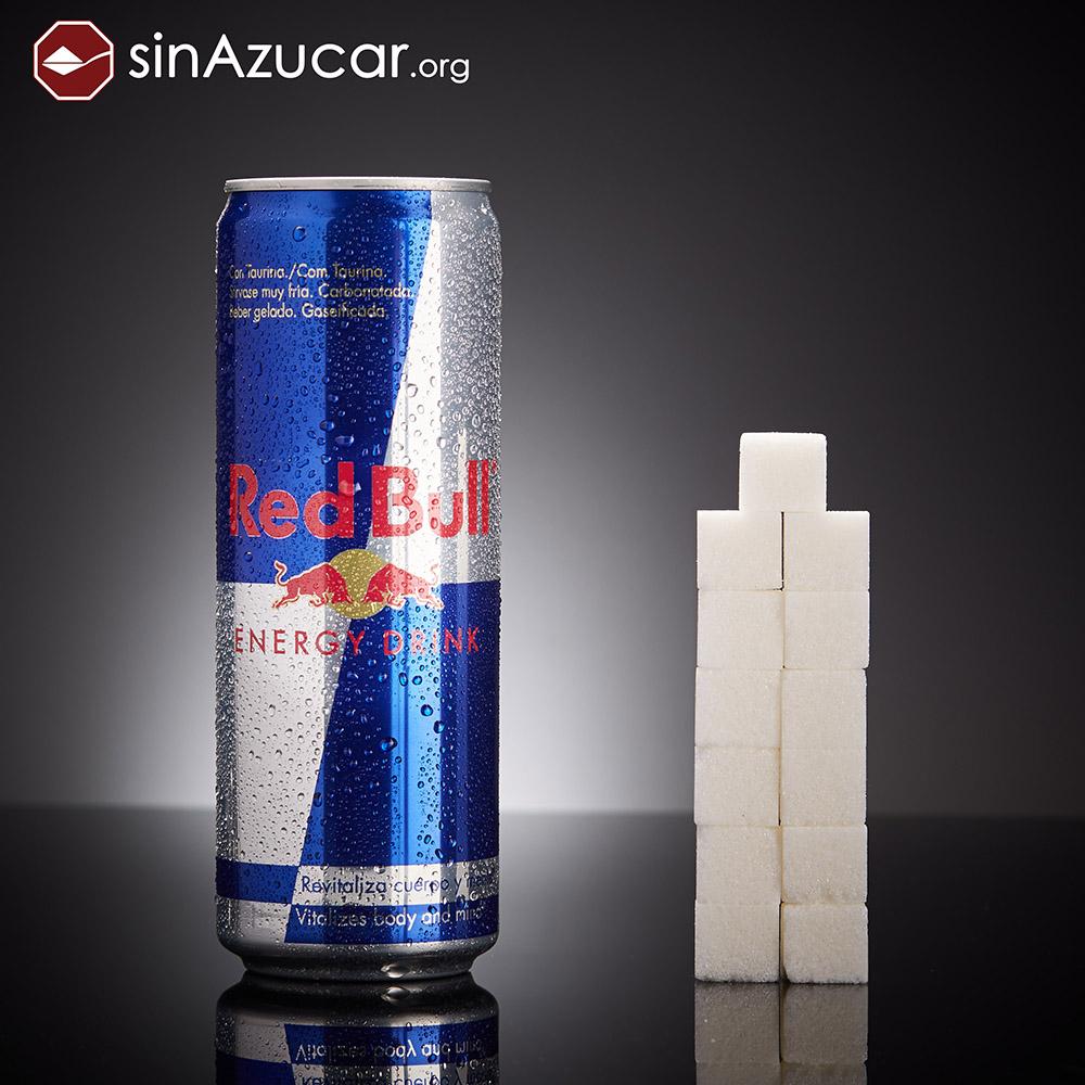 Quantidade de açúcar no energético Red Bull