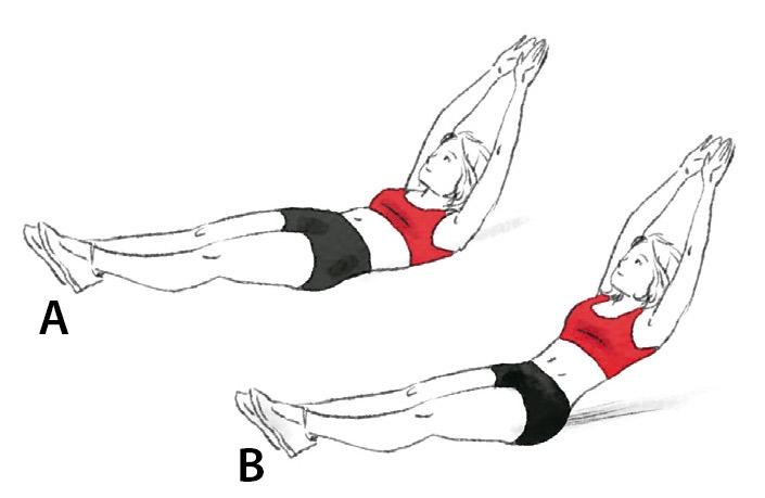 Exercício abdominal canoa