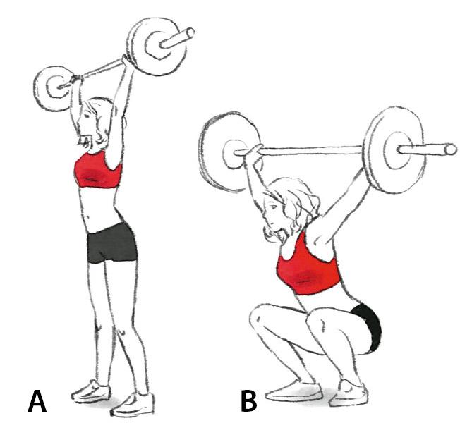 Exercício agachamento com barra