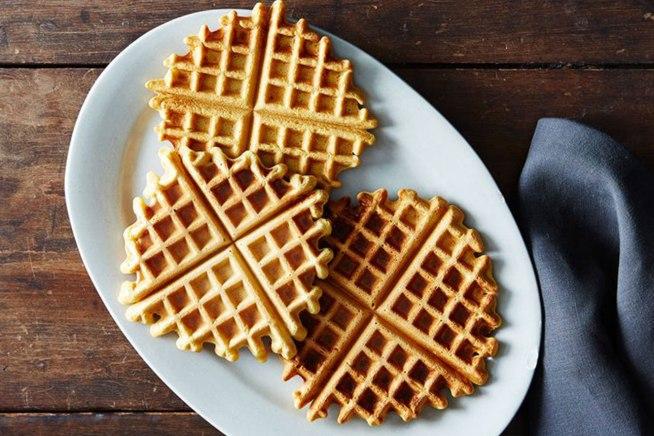 Waffle de grão-de-bico