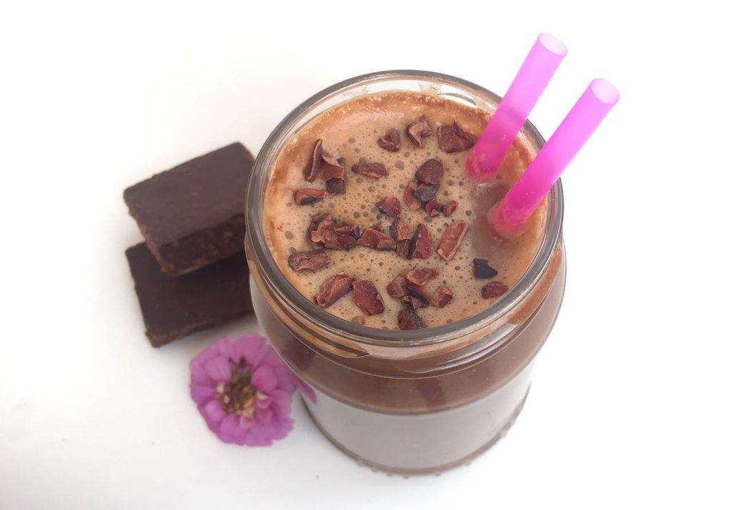 Milkshake vegano de brownie