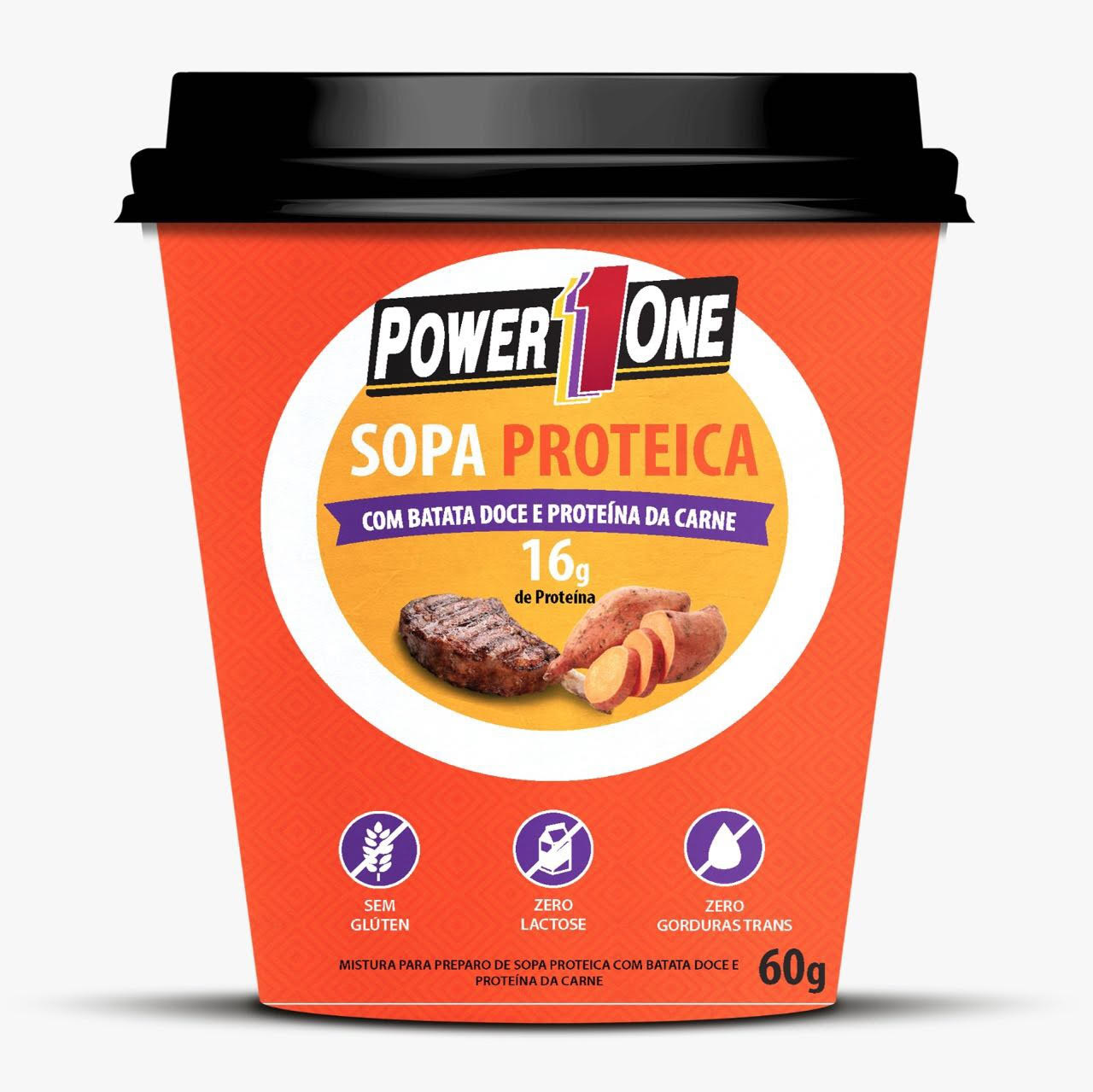 Embalagem sopa proteica Power1One