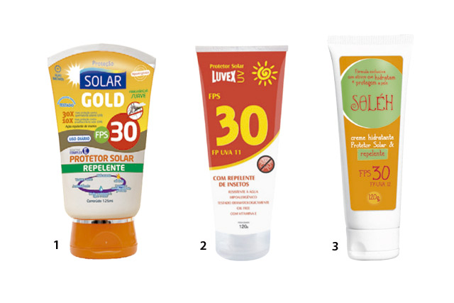 Produtos que são protetor solar e repelente