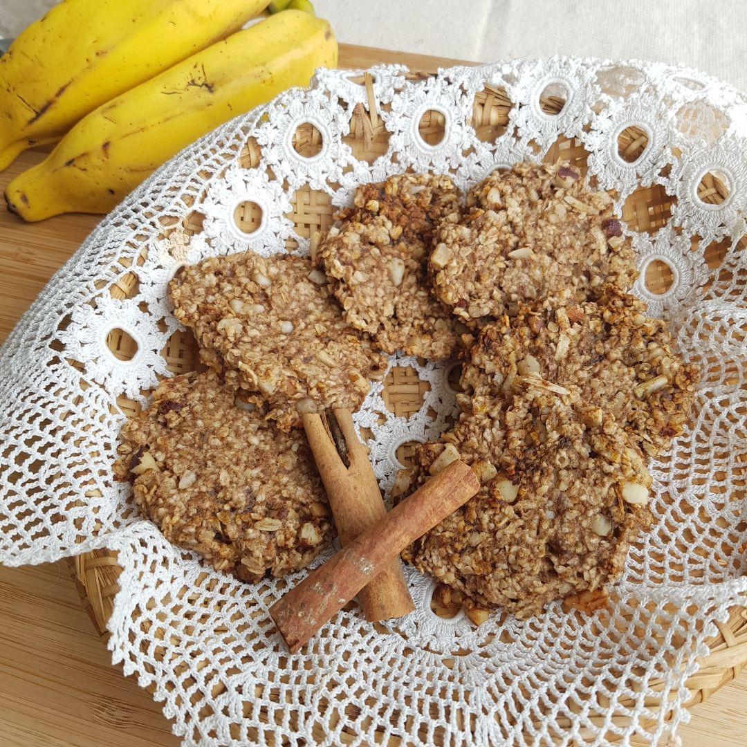 Cookie de banana e canela