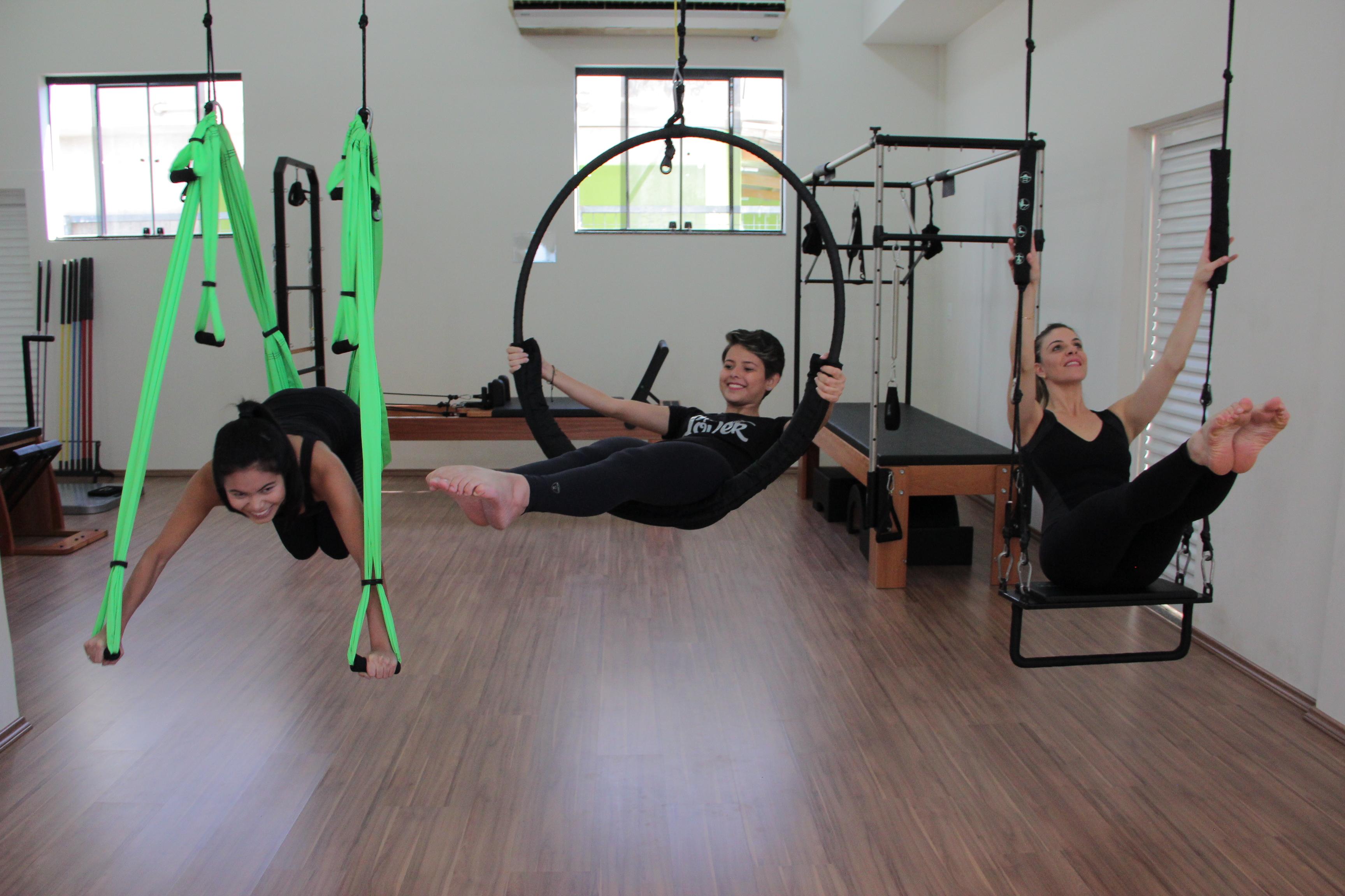 aula de suspensus o pilates aéreo