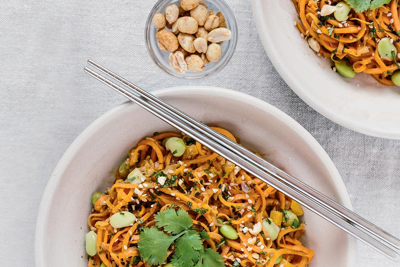 Receita de espaguete com fava verde