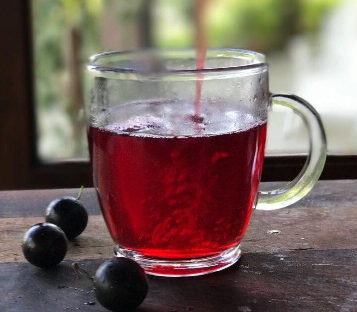 Chá de jabuticaba com hibisco
