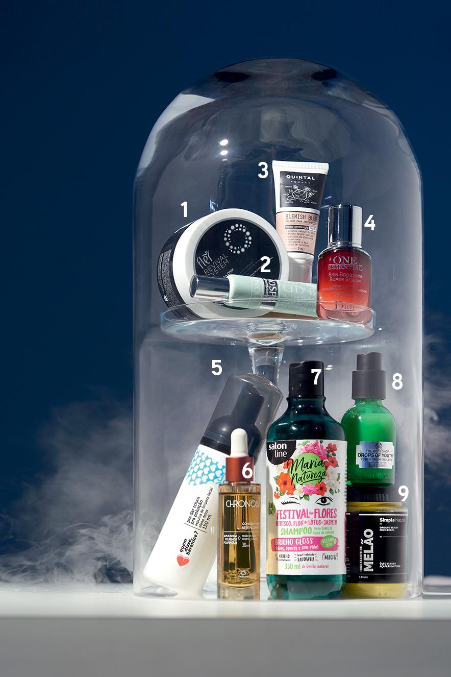 Produtos de beleza que protegem da poluição