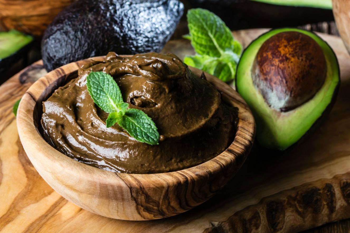 Creme de abacate com cacau