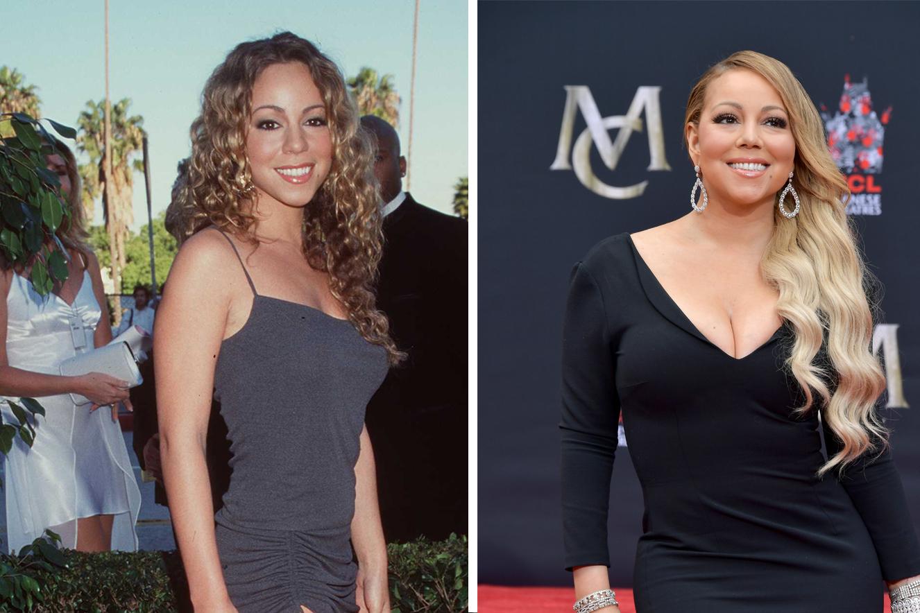 Antes e depois do cabelo de Mariah Carrey