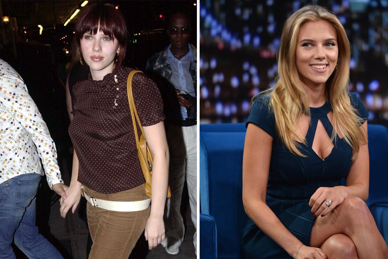 Antes e depois do cabelo de Scarlett Johansson