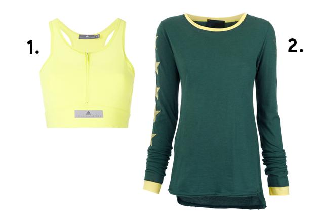 Top Adidas e blusa de manga longa para usar na Copa