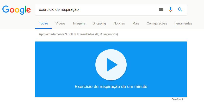 exercício de respiração do google