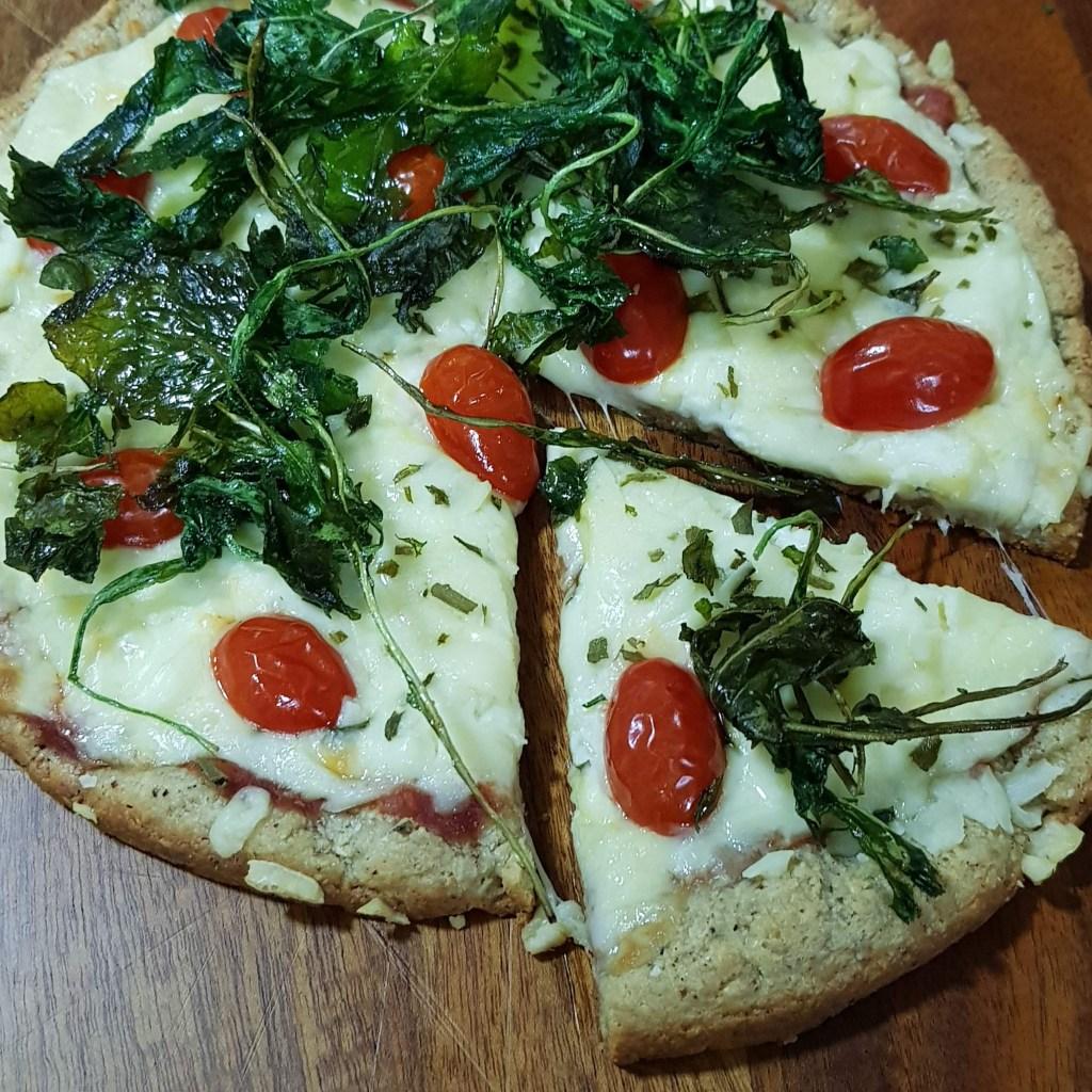 Receita de pizza low carb