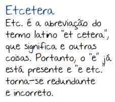 etcetera