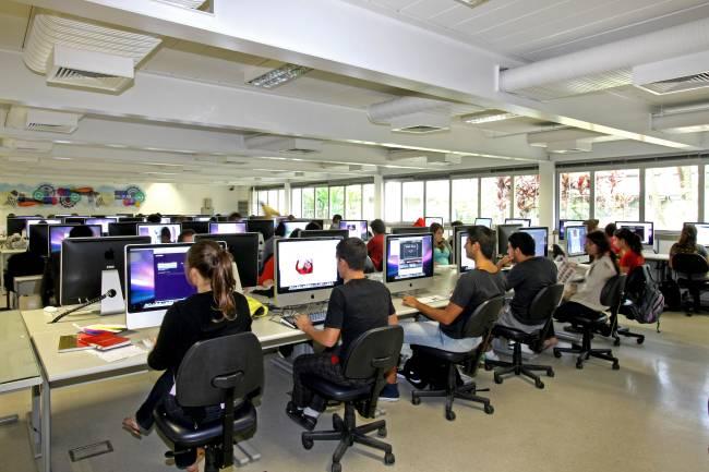 Laboratório geral de informática do Senac-SP, campus Santo Amaro (crédito: divulgação Senac-SP)
