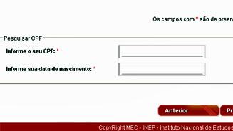 CPF é obrigatório para quem se inscreve no Enem / Foto: Reprodução