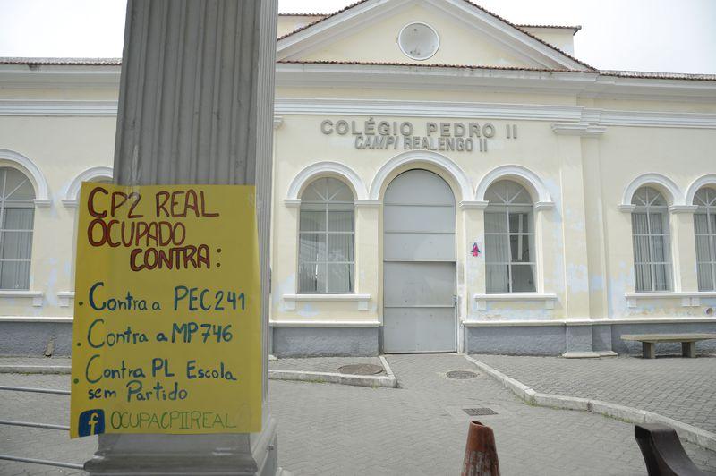 Rio de Janeiro - Estudantes do Colégio Pedro II, ocupam a unidade de Realengo, na zona oeste da capital fluminense (Tomaz Silva/Agência Brasil)