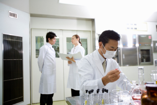 Scholars who work at laboratory