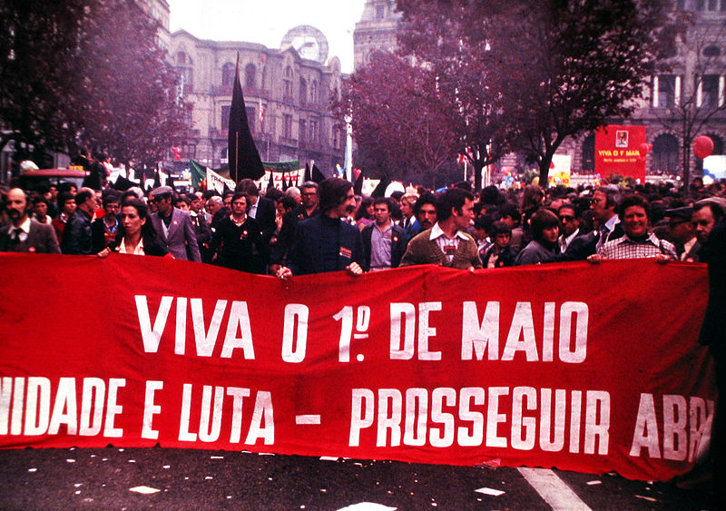 Manifestação realizada na cidade de Porto, em Portugal, em 1980 (foto: Wikimedia Commons)