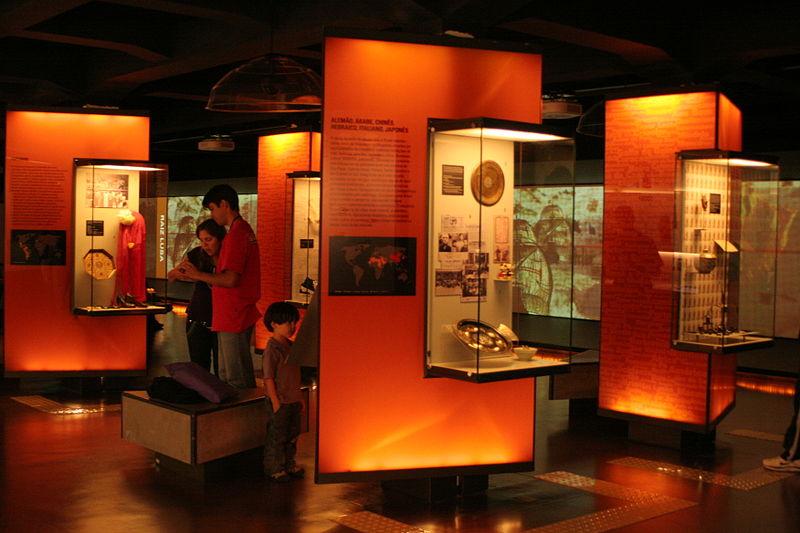 Visão do interior do Museu da Língua Portuguesa, em São Paulo (foto: Wikimedia Commons)