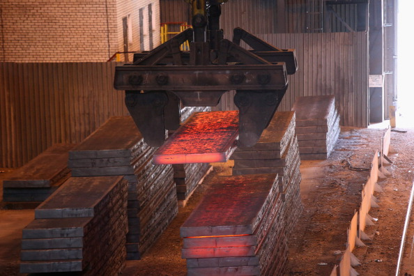 Steel Plant Continues Production Despite Conflict In Eastern Ukraine