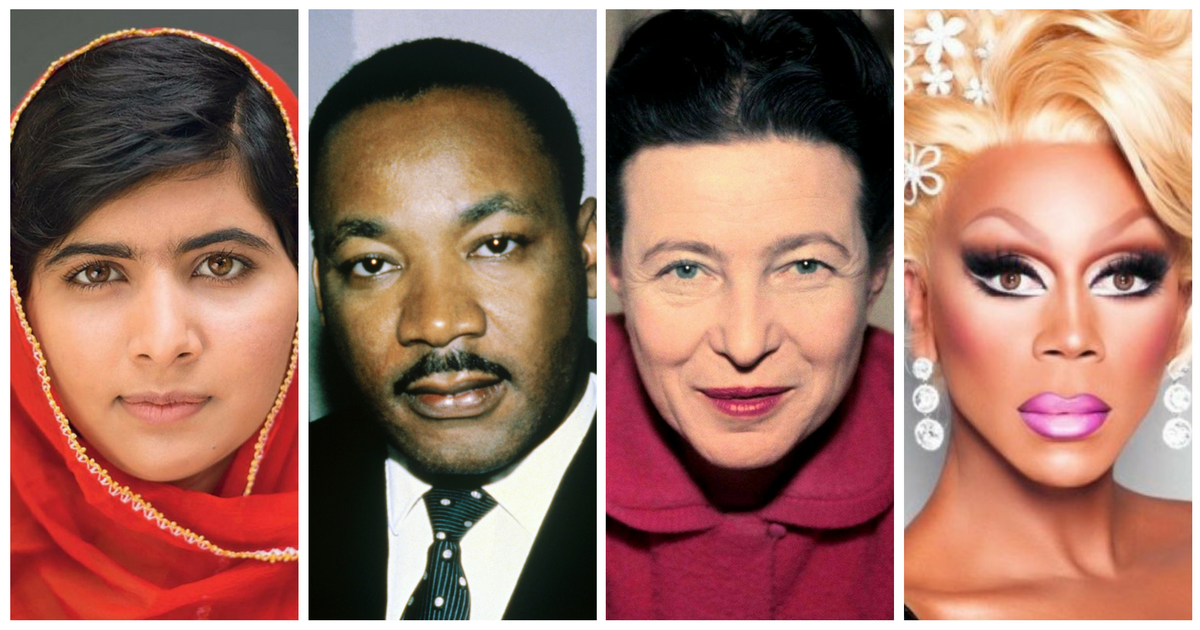 Malala-Martin-Luther-King-Simone-Beauvoir-Ru-Paul