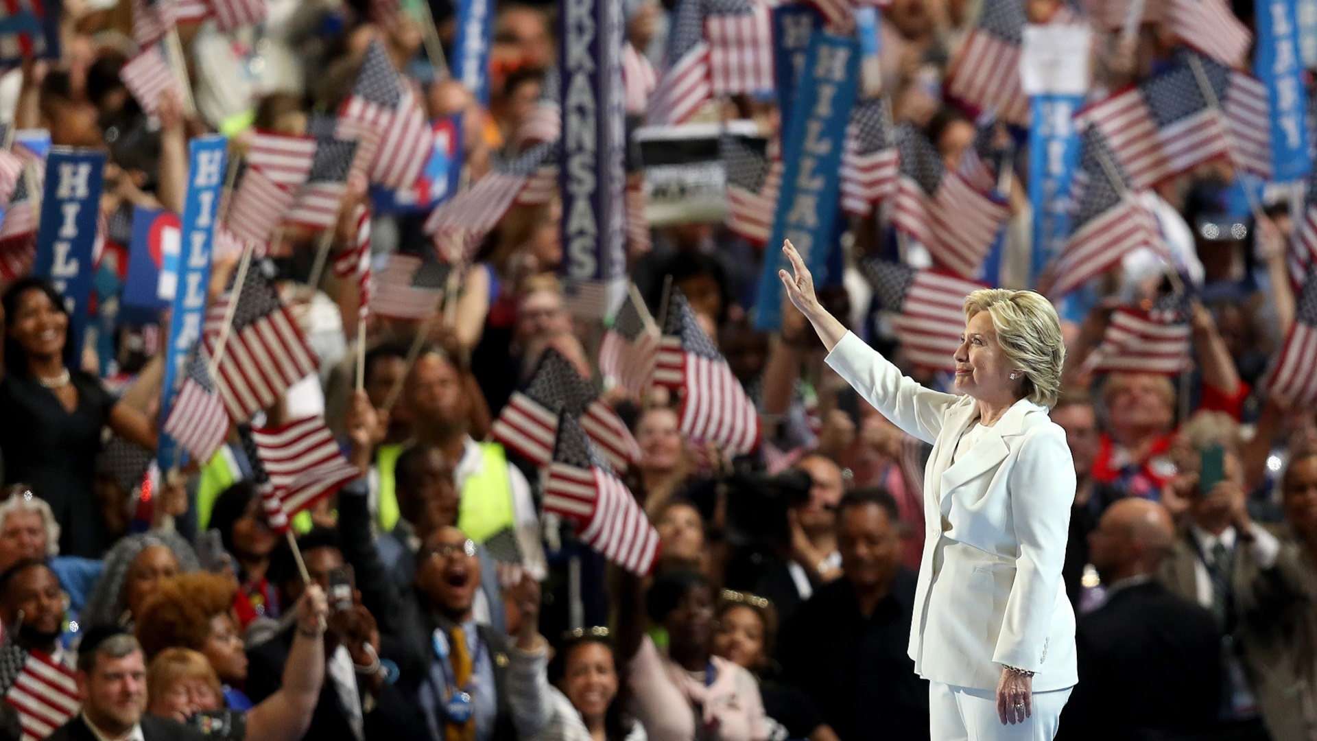 Hillary Clinton na Convenção do Partido Democrata