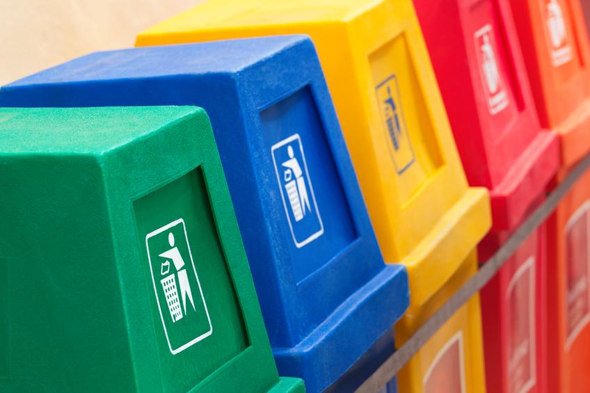 Latas lixo reciclável