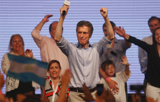 Mauricio Macri comemora o resultado das eleições na Argentina (foto: Mario Tama/Getty Images)