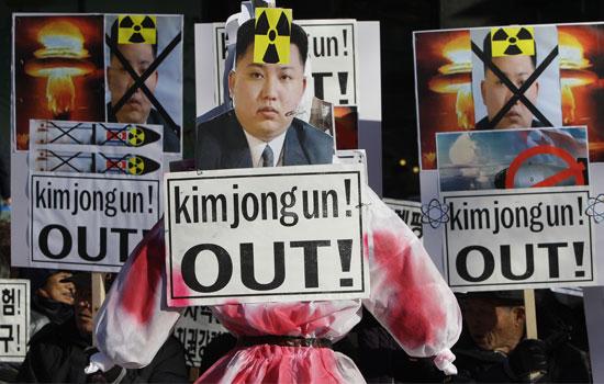 Manifestação contra o programa nuclear da Coreia do Norte (imagem: iStock)