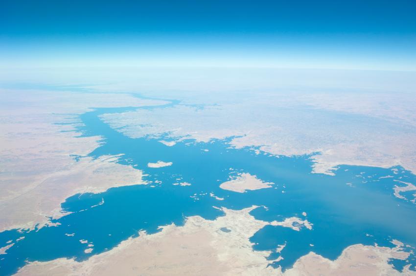 Vista aérea do Rio Nilo (fonte: iStock)
