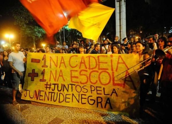 Manifestação na região do Largo do Machado, na zona sul da capital fluminense, contra as ações da Polícia Militar nas favelas do Rio (Fotos Públicas)