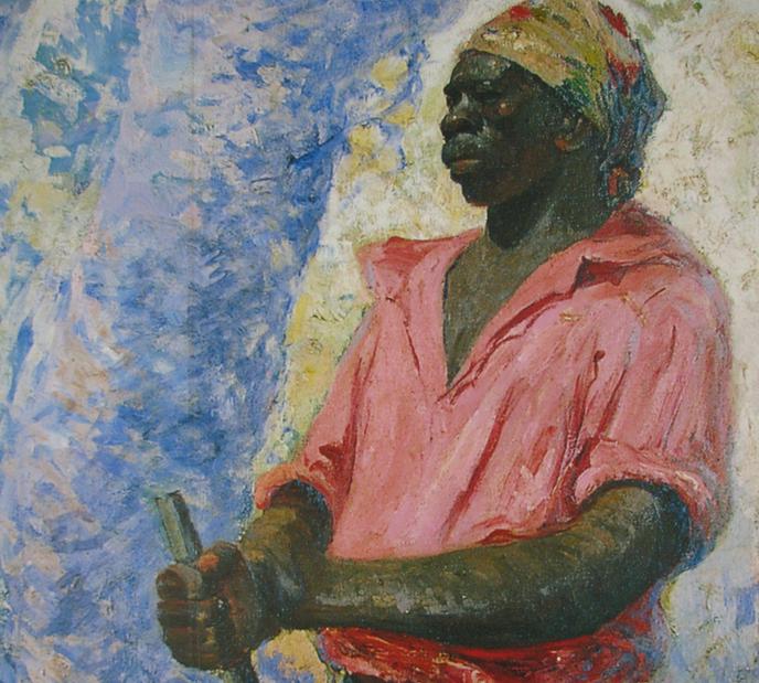 Zumbi, na pintura de Antônio Parreiras. (imagem: Wikimedia Commons)