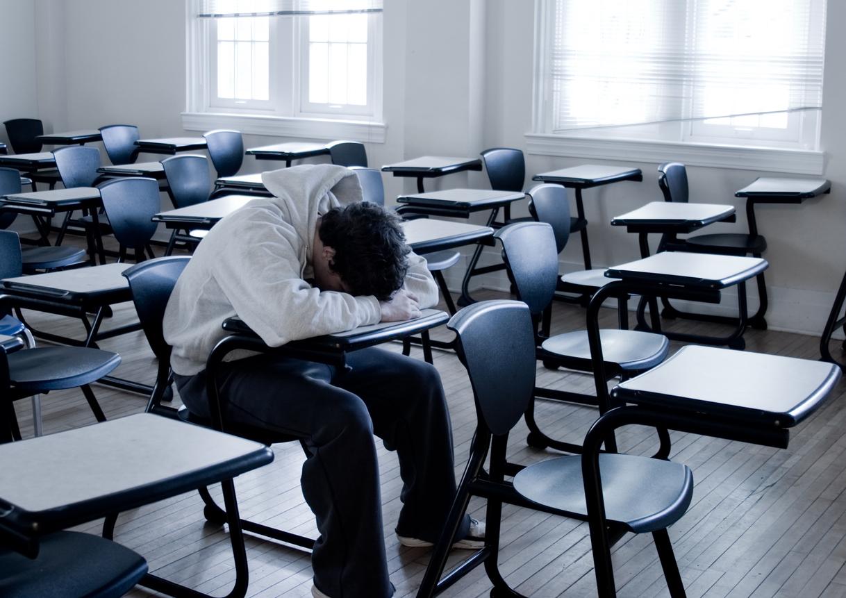 Estudante triste