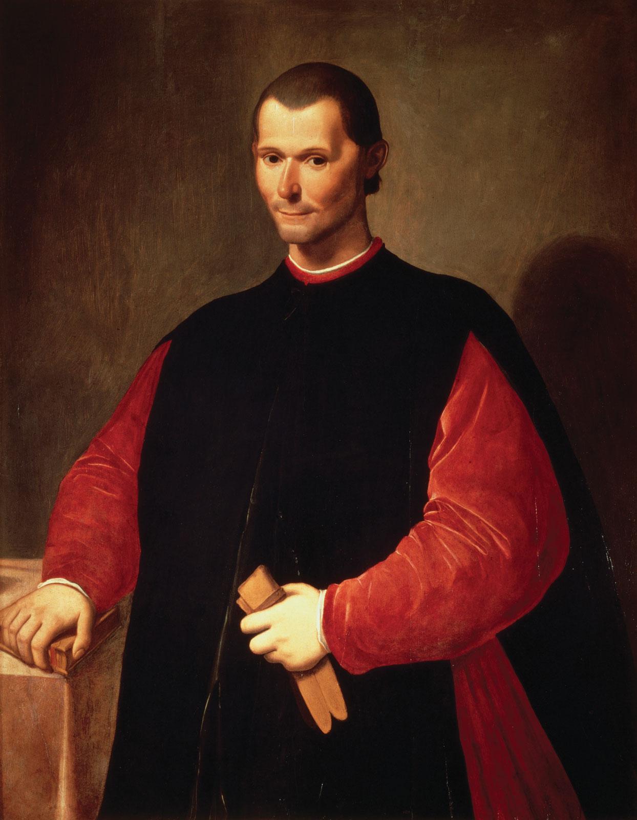 Retrato de Nicolau Maquiavel, por Santi di Tito